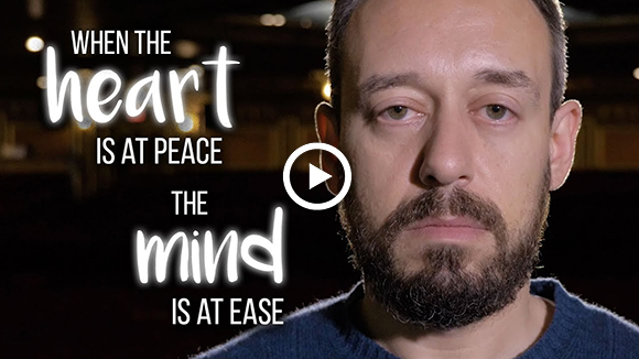 heart is at peace the mind